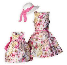 4adbe5db610b Artist Inspired Floral Sister Dresses Girls Easter Dresses, Girls Fancy  Dresses, Girls Spring Dresses