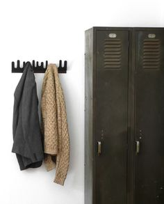 potential for bathroom storage. Would LOVE to have some old lockers!