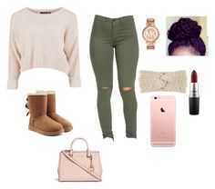"""""""Untitled #11"""" by babykvsh ❤ liked on Polyvore featuring UGG Australia, Michael Kors and MAC Cosmetics"""