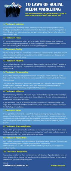10 laws of Social Media Marketing #infographic
