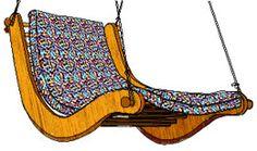 Hängesessel - Swingchair - free Template and step by step Photo tutorial - Bildanleitung und gratis Schnittvorlage
