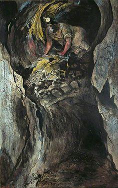 Cornish Tin Mine, Emerging Miner, 1943 by Graham Sutherland (English 1903–1980)