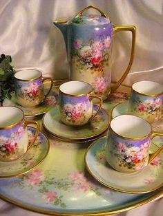 ,Mini Tea - blue with bouquet