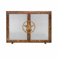Shop for Ornamental Designs Lone Star Decorative Brown-finished Hand-forged Steel Freestanding Fireplace Screen. Get free delivery On EVERYTHING* Overstock - Your Online Home Decor Outlet Store! Fireplace Screens, Star Designs, Fireplace Accessories, Forged Steel, Steel, Freestanding Fireplace, Bronze, Fireplace, Home Decor Items