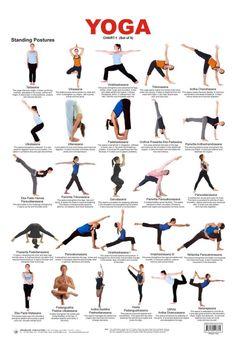 Yoga Standing Postures Chart