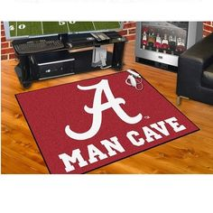 "Alabama Crimson Tide Man Cave UltiMat Area Rug Floor Mat 5' X 8' (60"" X 96"")"