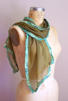 Olive Green Scarf, Green Silk Scarf, Lichen Green Scarf, Chiffon Silk Scarf, Womens Scarves, Boho, Scarves, Handmade Scarves, Gift for Her by RedChairStudioSilk on Etsy