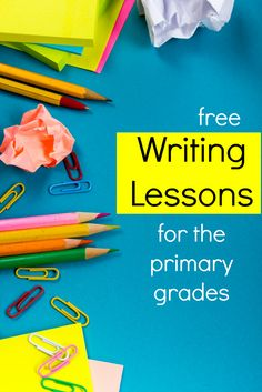 I really need help teaching writing.  I'm definitely going to try these writing lessons for first grade and second grade.
