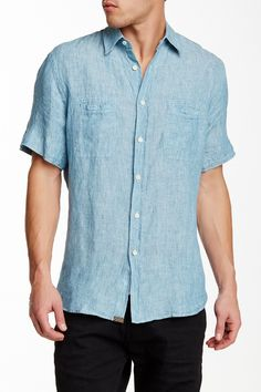 Donelson Short Sleeve Linen Shirt by Billy Reid on @nordstrom_rack