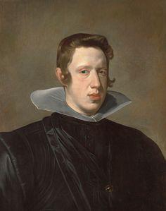 Diego Rodríguez de Silva y Velázquez (España, 1599-1660), retrato del rey Felipe IV, 1623-1624. Óleo sobre lienzo. Museo Meadows, SMU, Dallas, Algur H. Meadows Colección.