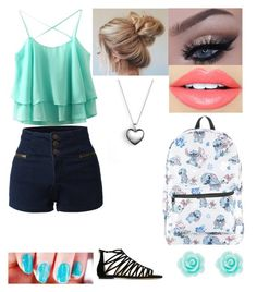 """""""Out for a Day"""" by red-snow98 on Polyvore featuring LE3NO, Jimmy Choo, Disney, Cirque Colors, Fiebiger and Pandora"""
