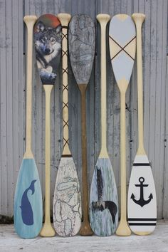 Custom decorative paddles by Georgian Bay Tackle.