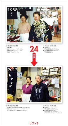 LOVE:1988年 → 2012年
