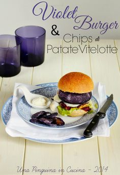 Violet burger, hamburger di carote viola, hamburger with violet carrots