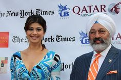Former Miss India and current Royal Challenge Brand Ambassador, Pooja Batra,  with President of The UB Group, Americas, Tony Bedi. Photo: Archana Desai