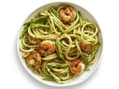 Get Pesto Pasta with Shrimp Recipe from Food Network