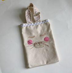 Easter Basket Personalised Easter Tote Bag Bunny by DaintyApples