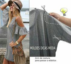 DIY off-shoulders dress