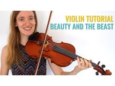 Beauty and the Beast [Violin Lesson] - Beginner Tutorial // Fairytale Challenge