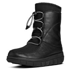 Sporty Lace-Up Mukluk in Leather