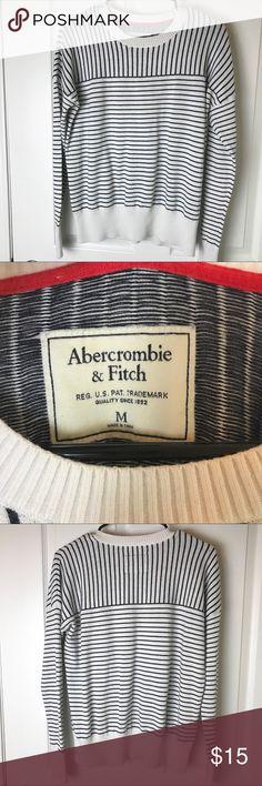 Abercrombie & Fitch striped sweater Abercrombie & Fitch striped black and white sweater. Size Medium. Excellent condition. Abercrombie & Fitch Sweaters Crew & Scoop Necks