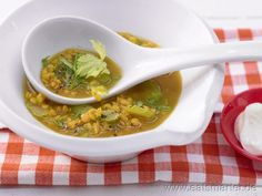 Curry-Linsen-Suppe