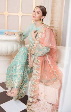 Buy Online Punjabi Wedding Lehenga Designer Collection Call/ WhatsApp us 77164 Beautiful Pakistani Dresses, Pakistani Formal Dresses, Pakistani Fashion Casual, Pakistani Wedding Outfits, Pakistani Wedding Dresses, Pakistani Dress Design, Indian Dresses, Indian Outfits, Nikkah Dress