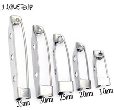 2.23$  Watch more here - 40pcs White K Tone Iron Metal Brooch Back Bar Pins 15/20/25/30mm Size To Choose   #shopstyle
