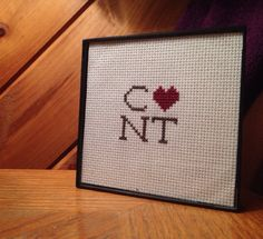 C*nt Finished Cross Stitch