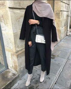Street Hijab Fashion, Muslim Fashion, Modest Fashion, Fashion Outfits, Casual Hijab Outfit, Hijab Chic, Modest Outfits, Trendy Outfits, Modele Hijab