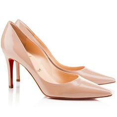 Christian Louboutin New Decoltissimo 85mm Nude Patent Heels