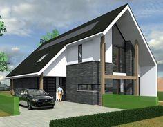 Attic House, House Roof, Bungalows, Home Fashion, Exterior Design, Future House, Building A House, Architecture Design, House Plans