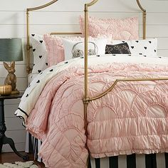 The Emily + Meritt Parisian Petticoat Quilt + Sham #pbteen (Cambria this might be a pretty option for your college bedding)