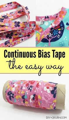 How to make continuous bias tape the easy way. A detailed tutorial | DIY Crush
