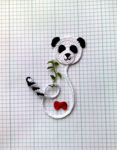 Bookmark Panda Bear and small red bow As a bookmark you can use to save a page in books, diaries, paper notebooks etc. SIZE ~25 cm (9.8) I can make the interesting color and quantity. Please let me know if you need additional pieces. All items in the shop: