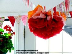 how to make paper flower bouquet | has a great tutorial showing you how to make tissue paper flowers ...