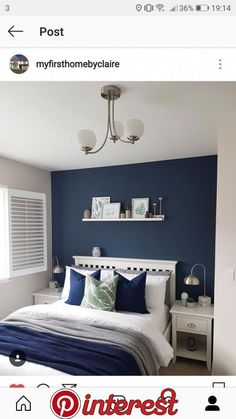 New dark bedroom furniture ideas navy blue 15 Ideas bedroom furniture bedroom decor Navy New dar New dark bedroom furniture ideas navy blue 15 Ideas bedroom furniture bedroom decor Navy New dar Prof Susan Muller nbsp hellip furniture makeover Dark Blue Bedrooms, Blue Master Bedroom, Blue Bedroom Decor, Blue Rooms, Home Bedroom, Navy Bedrooms, Navy Bedroom Walls, Blue And White Bedroom Furniture, Blue Bedroom Paint