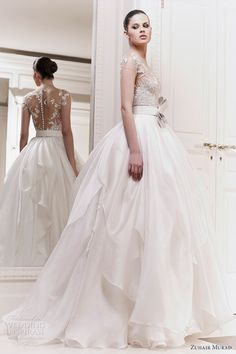 Zuhair Murad Wedding Dress - love the skirt and back!not sure about the bow..