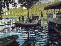 The Grenouillere, 1869, The Metropolitan Museum of Art, New York, USA (Claude Monet)    Style: Impressionism  Genre: Genre painting