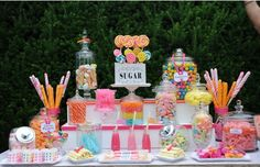 30 Candy Party Theme Ideas - Sugar Dessert Table - mazelmoments.com