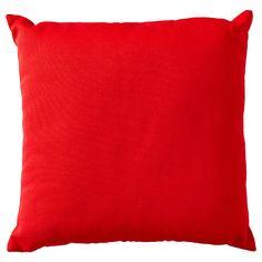 Plain Rib Cushion 43 x 43cm - Red