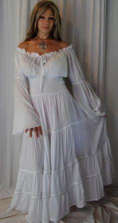 O LALA Carmenkleid - weiß