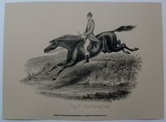 $18.99  Horse AND Rider ART Print THE Flying Leap BY OLD World Prints   eBay