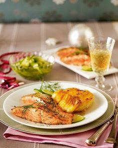 Das Rezept für Dill-Lachs mit Kartoffel-Meerrettich-Gratin und weitere kostenlose Rezepte auf LECKER.de