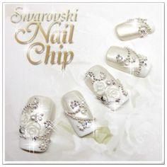 Japanese Nail Art for Wedding Long Nail Art, 3d Nail Art, Nail Art Hacks, Art Nails, Nail Arts, Square Nail Designs, Ombre Nail Designs, Cute Nail Designs, Black Gold Nails