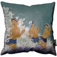 The Three Amas Throw Pillow, $58, now featured on Fab.