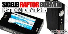 Sigelei Raptor 100 Watt Box Mod $94.99   GOTSMOK.COM