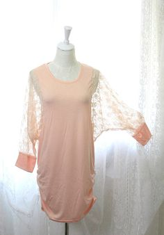 SALE LAST ONE Casual Romantic Sheer Lace Batwing by miadressshop, $18.00