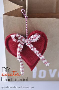 Upcycle a sweater into hearts. Hmm,maybe fill with aromatics for keepsake sachets? Makes a great customer perk too <3