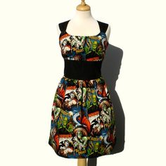 Rockabilly Pinup Dress Classic Pinup Dress / Monsters Vintage Inspired 1950s Horror Movie Pinup Hollywood Monster Dress. $59.95, via Etsy.
